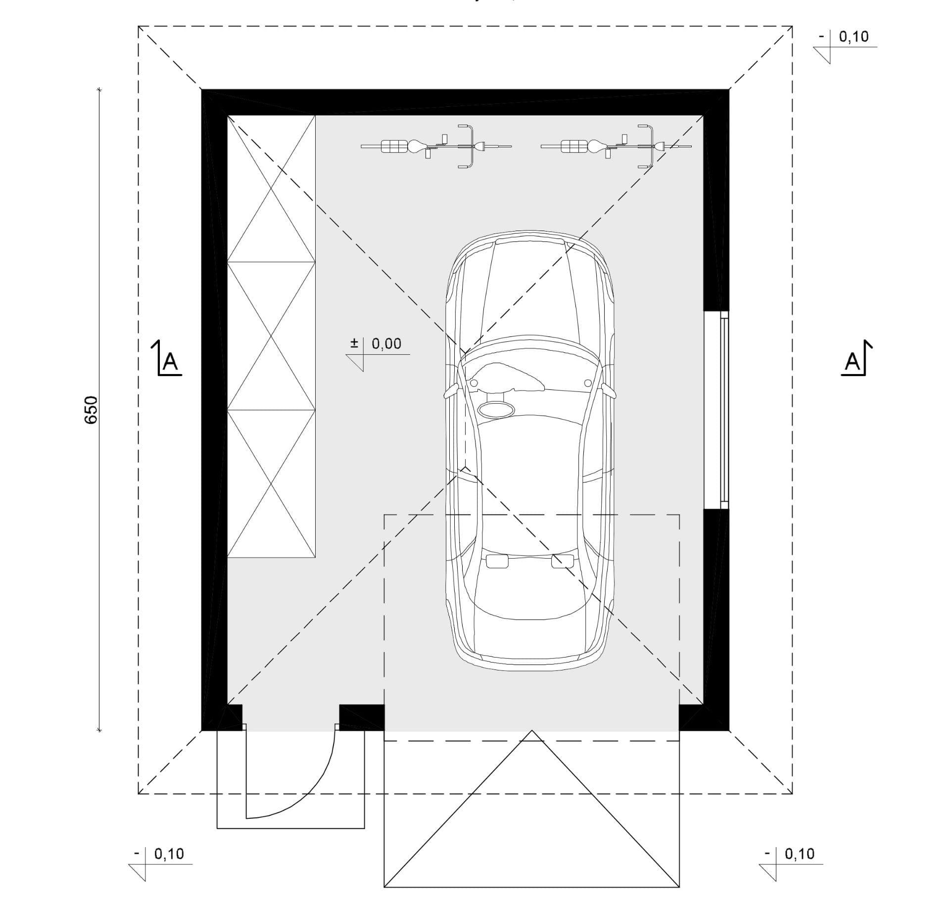 Rzut - inny projekt Garaż SEJ-PRO G002