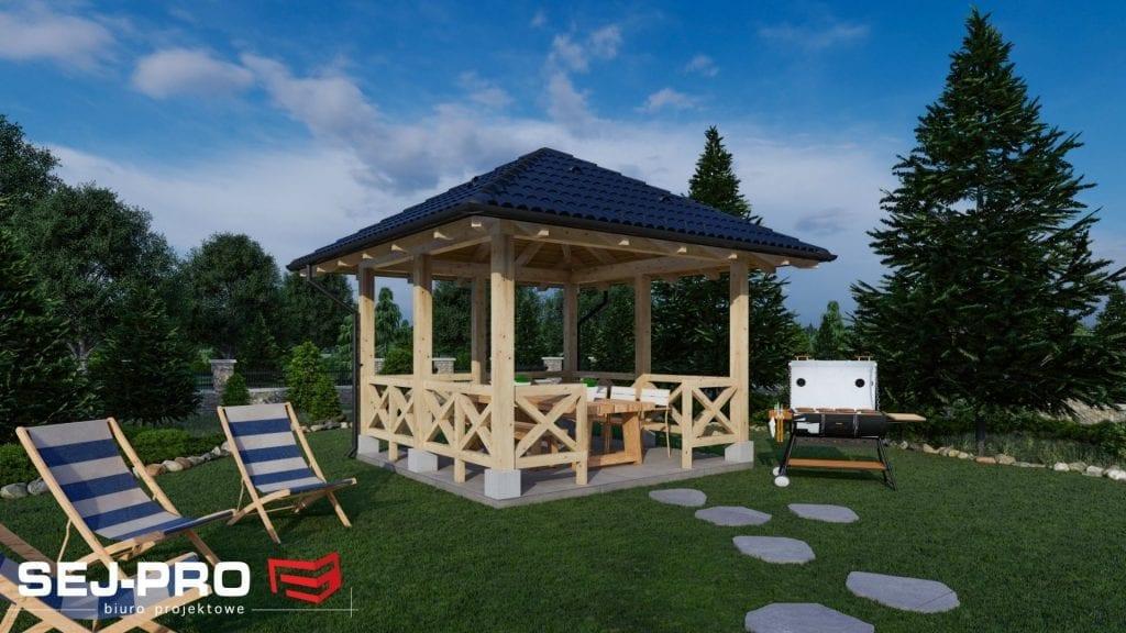 Inny projekt Altana ogrodowa SEJ-PRO A001
